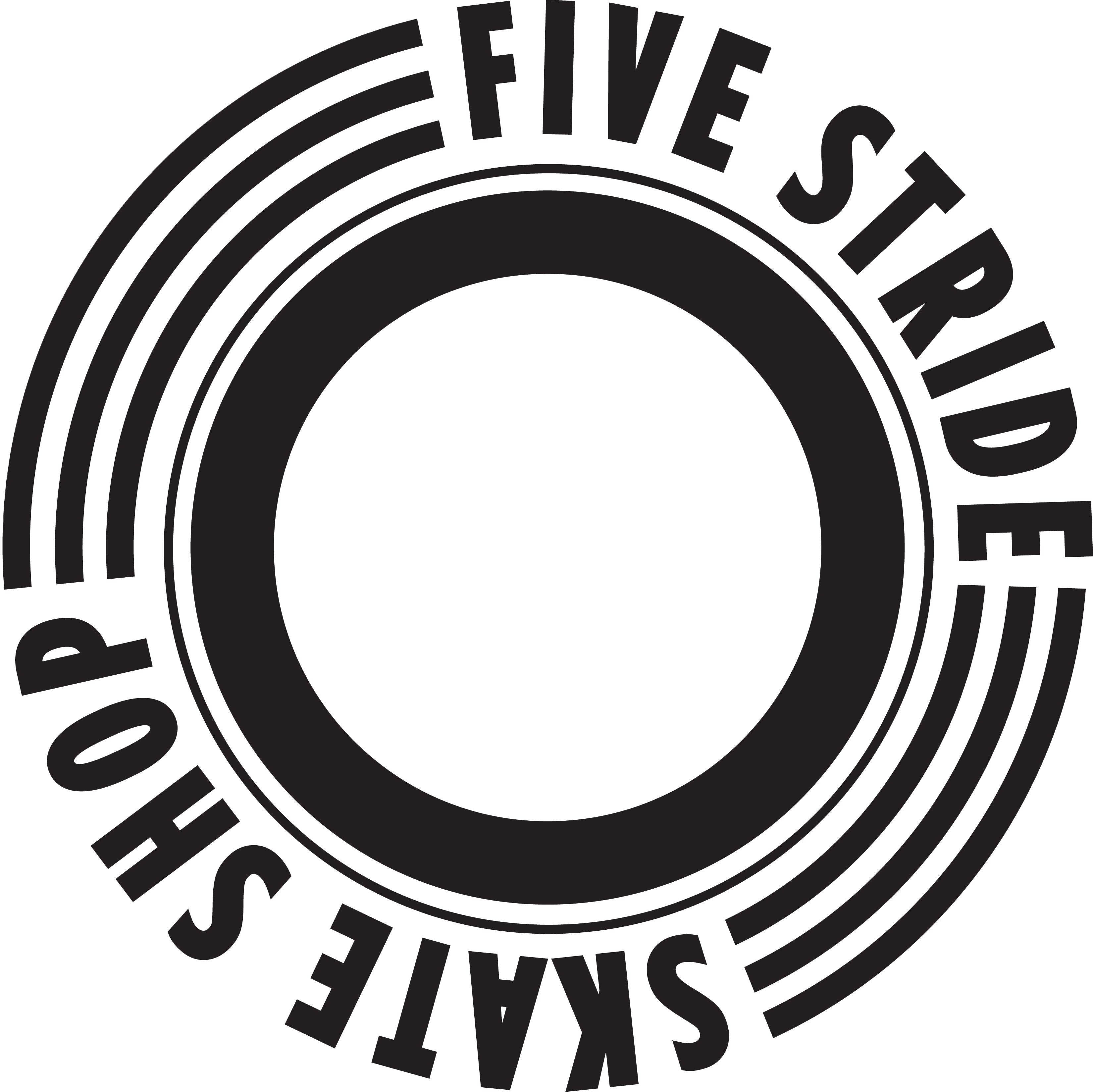 five_stride_logo_Black on white background