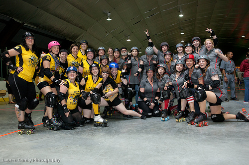 Blitzburg Bombers & SufferJets post-game 6/11/2011 photo
