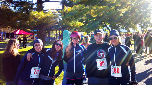 Ithaca League of Women Rollers  at the Cancer Resource Center 5k and Walkathon