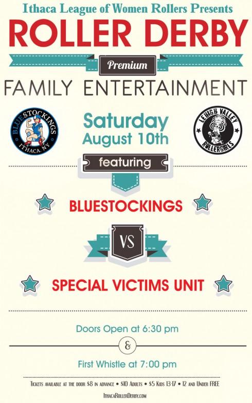 BlueStockings vs Special Vixens Unit Saturday August 10, 2013