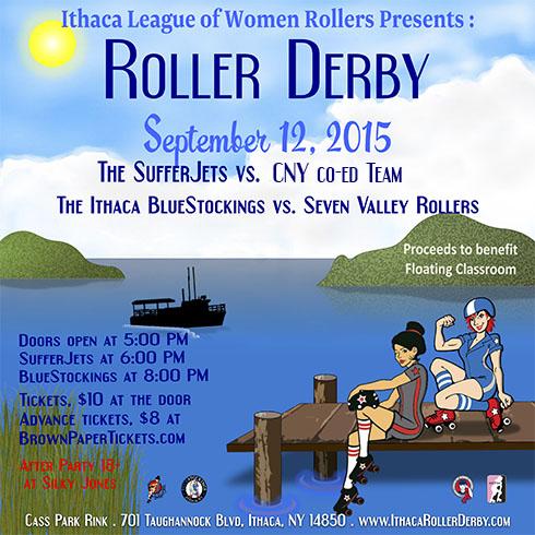 Ithaca Roller Derby September 12, 2015